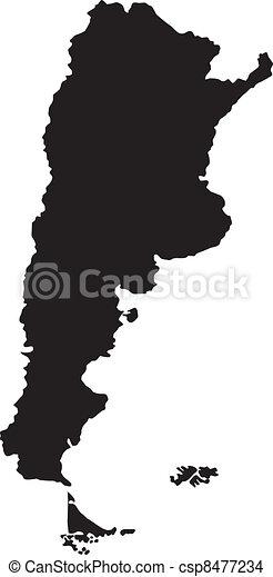 térkép, argentína, vektor, ábra - csp8477234