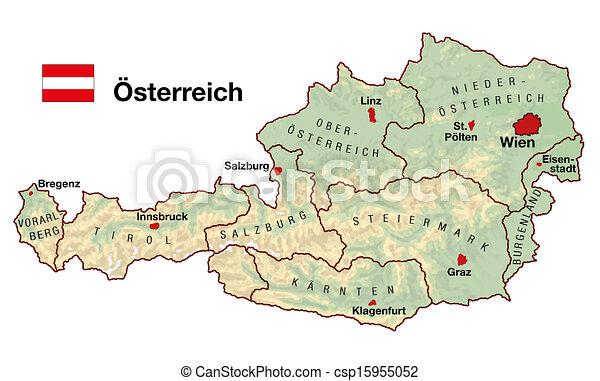 Terkep Ausztria Europa Terkep Topografiai Szovetsegi