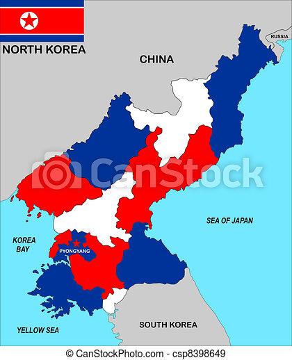 Terkep Korea Eszak Nagyon Nagy Politikai Abra Nagysag
