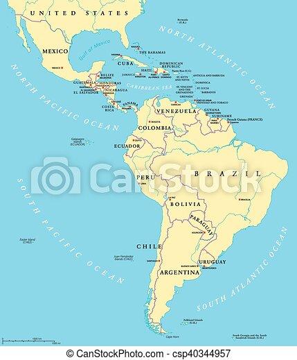 Terkep Latin Politikai Amerika Terkep Latin Eszaki Mexico