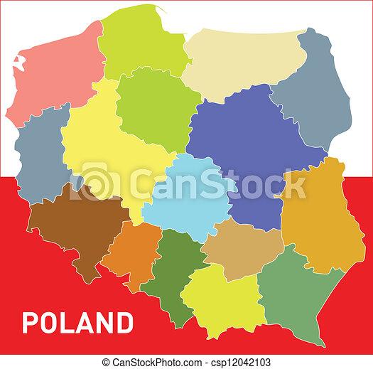 Terkep Lengyelorszag Terkep Szin Lengyelorszag Hatter White