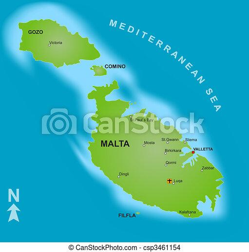 Terkep Malta Terkep Kulonbozo Kiallitas Malta Stilizalt