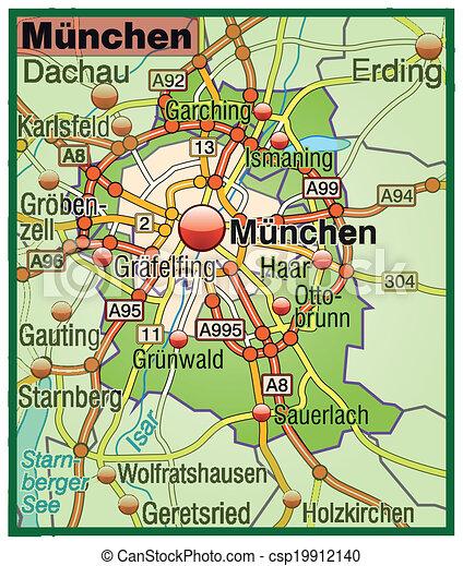 Autopalyak Terkep Munchen
