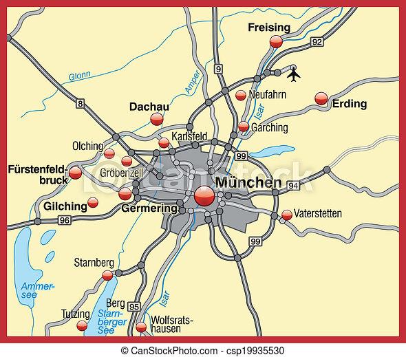 Terkep Munchen