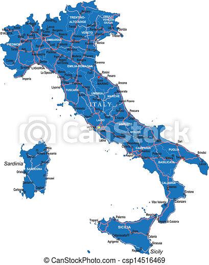 Terkep Olaszorszag Reszletes Terkep Videk Olaszorszag