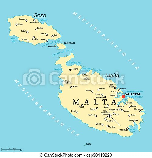 Terkep Politikai Malta Terkep Scaling Valletta Fovaros