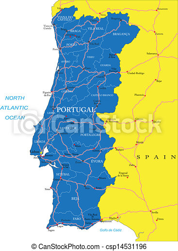 Terkep Portugalia Reszletes Terkep Videk Portugalia Magasan