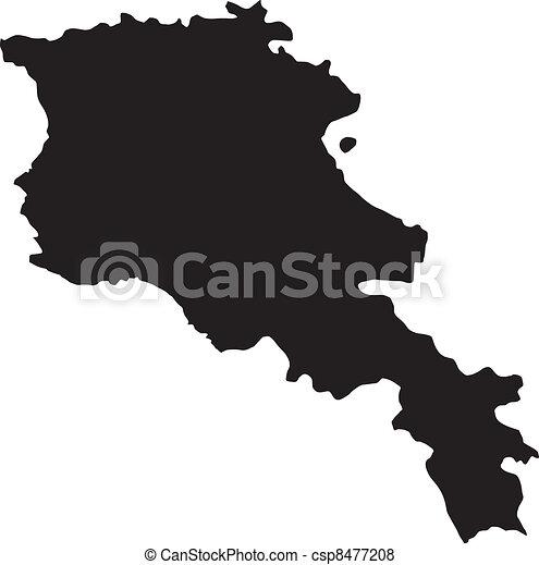 térkép, vektor, ábra, örményország - csp8477208