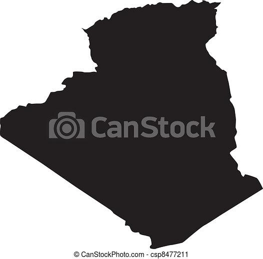 térkép, vektor, ábra, algéria - csp8477211