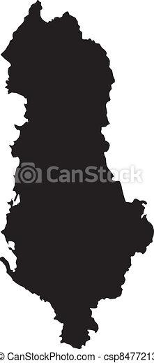 térkép, vektor, albánia, ábra - csp8477213