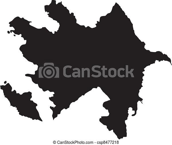 térkép, vektor, azerbajdzsán, ábra - csp8477218