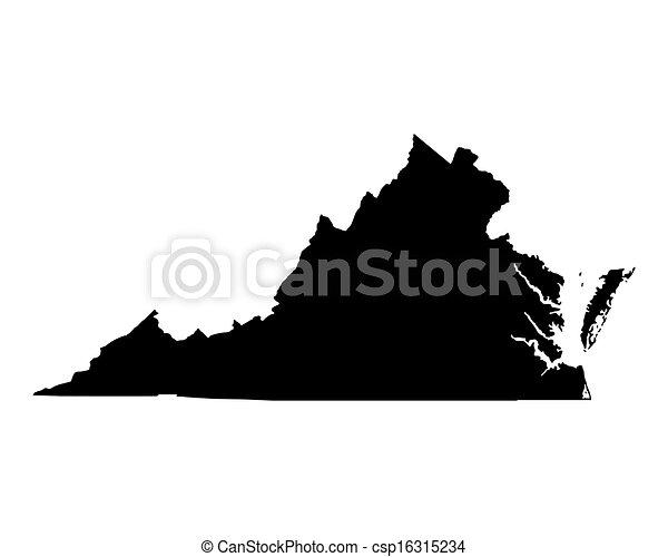 térkép, virginia - csp16315234