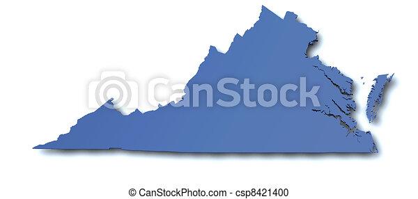 térkép, -, virginia, usa - csp8421400