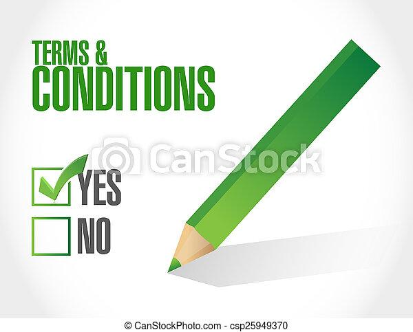Los términos y condiciones marcan - csp25949370
