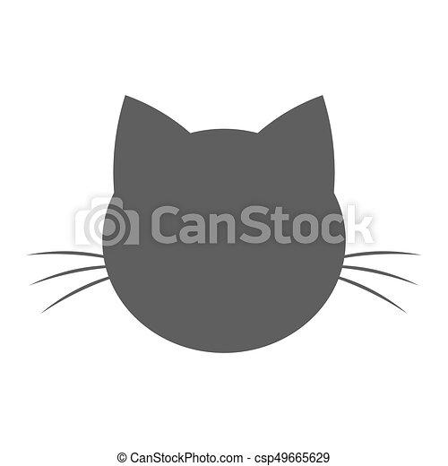 Tête Chat Forme Icône