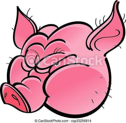 T te cochon t te illustration color cochon - Tete de cochon a colorier ...