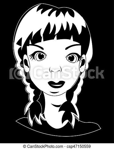 Tête Fille Noire