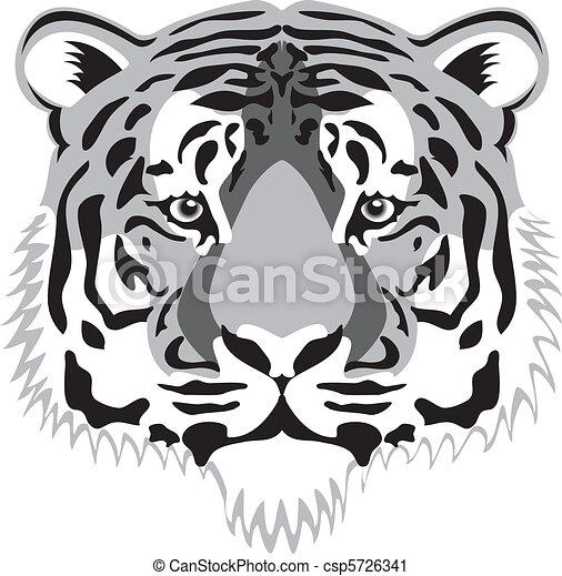 T te tigre vecteur - Image tete de tigre ...