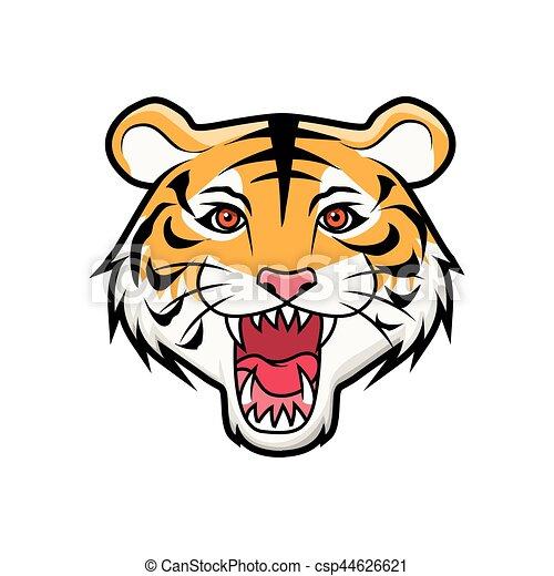 T te tigre rugir - Image tete de tigre ...