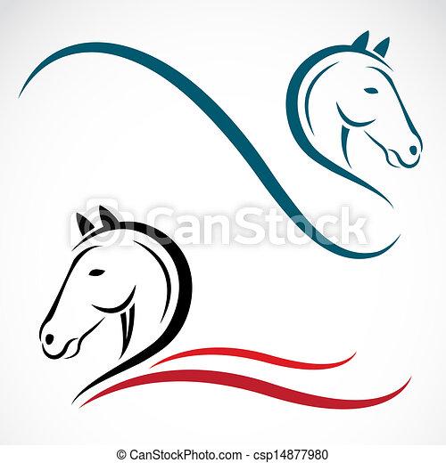 T te vecteur cheval fond blanc - Dessin tete de cheval ...