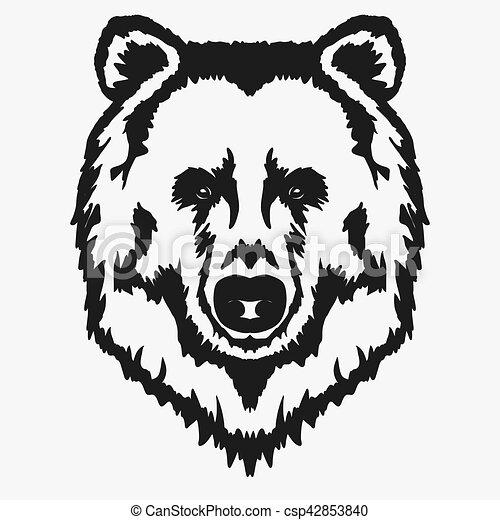 T te vecteur dessin anim ours t te grisonnant - Tete de panda dessin ...