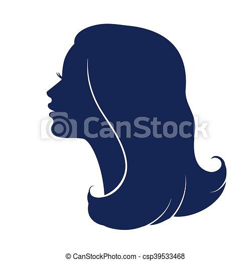 Tête Visage Femme Profile Femme Silhouette Tête Femme Coupe