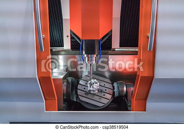 têtes, moudre, industrie, métal, machine, cnc - csp38519504