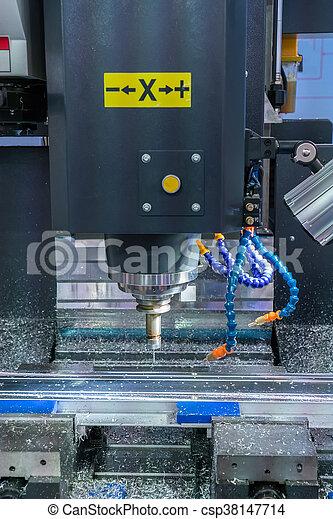 têtes, moudre, industrie, métal, machine, cnc - csp38147714