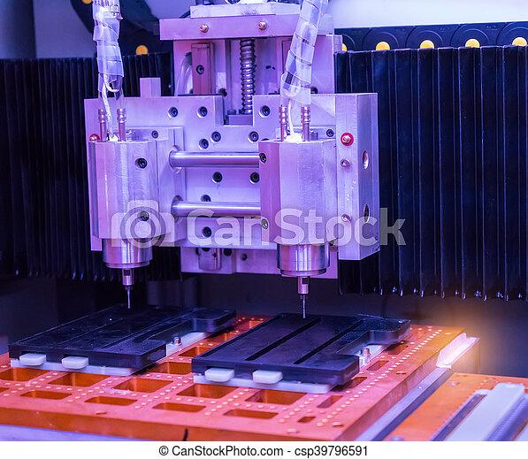 têtes, moudre, industrie, métal, machine, cnc - csp39796591