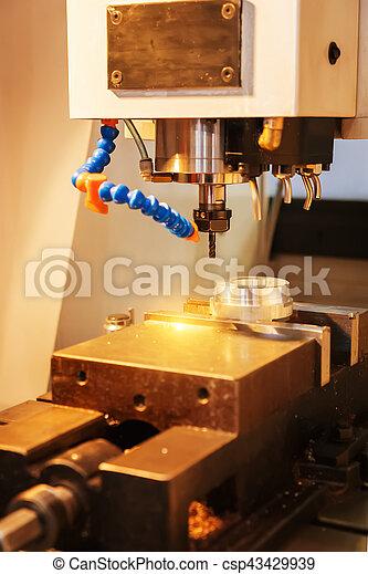 têtes, moudre, industrie, métal, machine, cnc - csp43429939