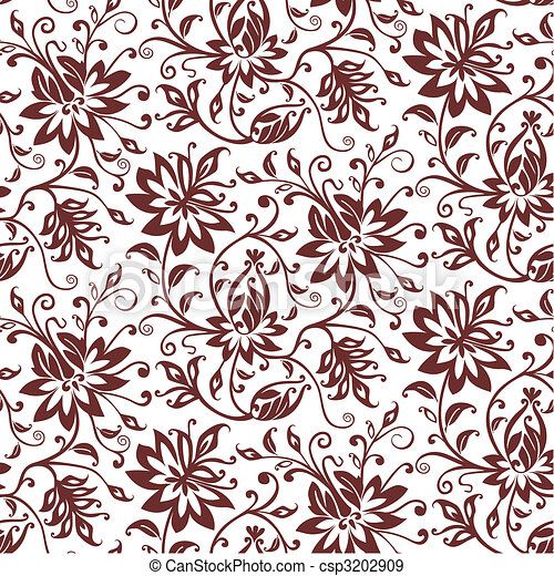 têxtil, floral, vetorial, fundo - csp3202909