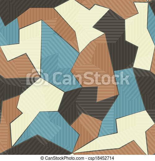 têxtil, padrão, retro, seamless - csp18452714