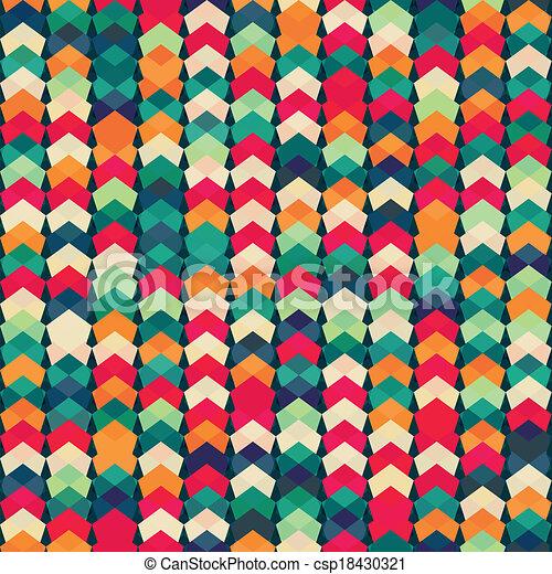 têxtil, padrão, seamless, coloridos - csp18430321