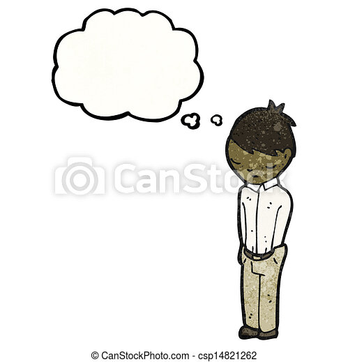tímido, caricatura, hombre - csp14821262