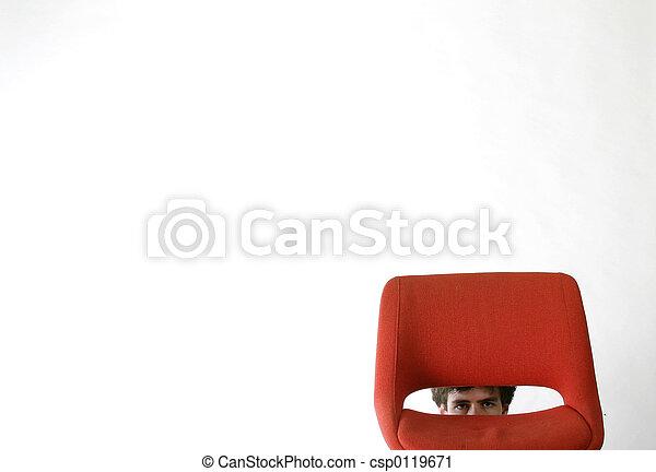 Hombre tímido - csp0119671