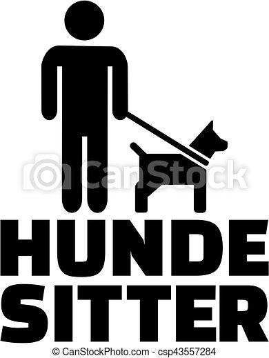 título, alemão, cão, trabalho, sitter, ícone - csp43557284