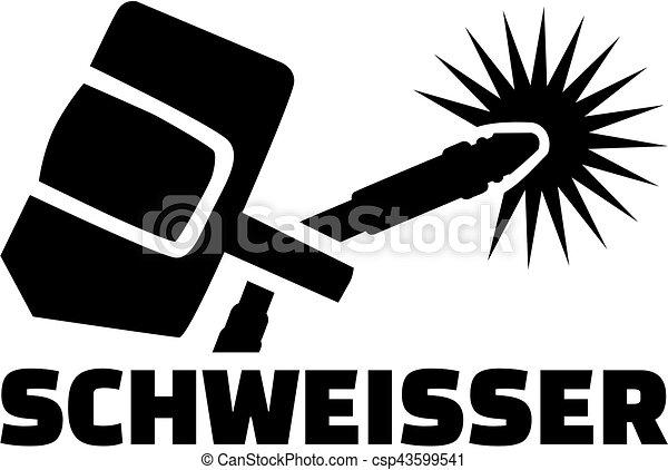 título, alemão, -, equipamento, trabalho, soldador - csp43599541