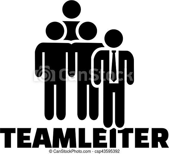 título, alemão, trabalho, líder equipe, ícone - csp43595392