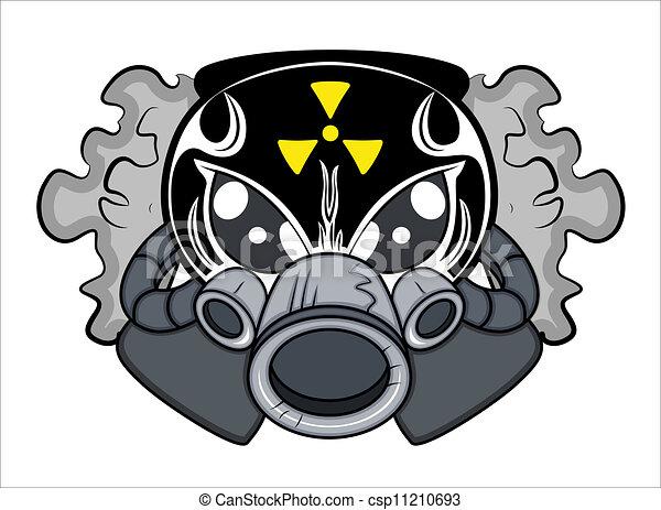 tóxico, tatuagem, vetorial, mascote - csp11210693