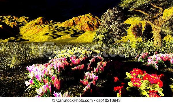 tôt, printemps, verger, temps - csp10218943