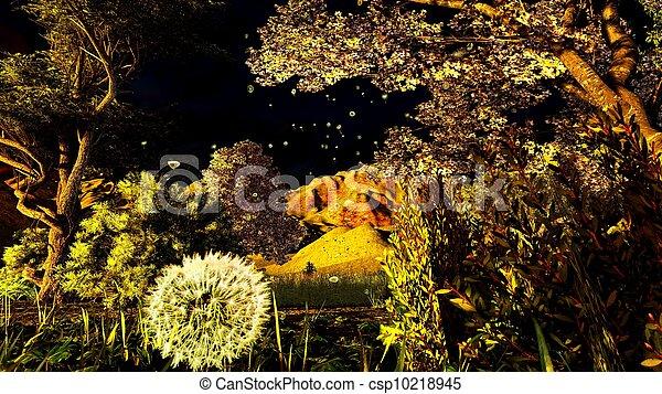 tôt, printemps, verger, temps - csp10218945