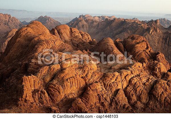 tôt, rochers, matin - csp1448103