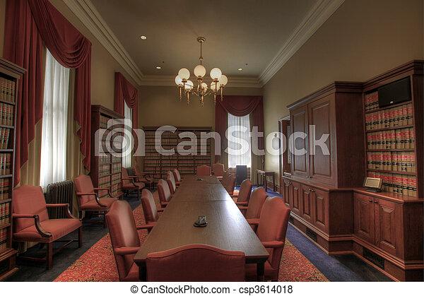 törvény, ülésterem, könyvtár - csp3614018