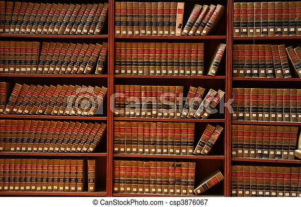 törvénykönyv, könyvtár - csp3876067