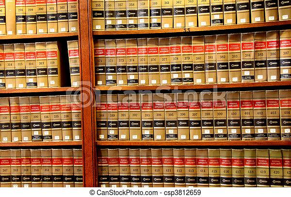 törvénykönyv, könyvtár - csp3812659