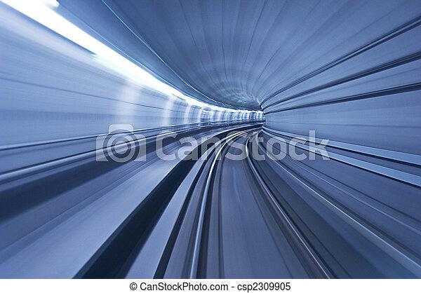 túnel, alta velocidad, metro - csp2309905