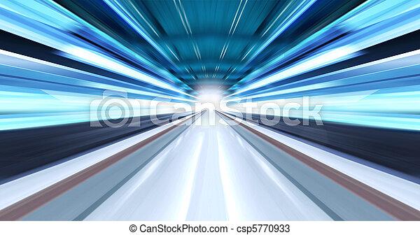 Luz engrasada en el túnel - csp5770933