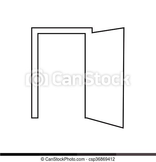 tür, design, abbildung, ikone - csp36869412