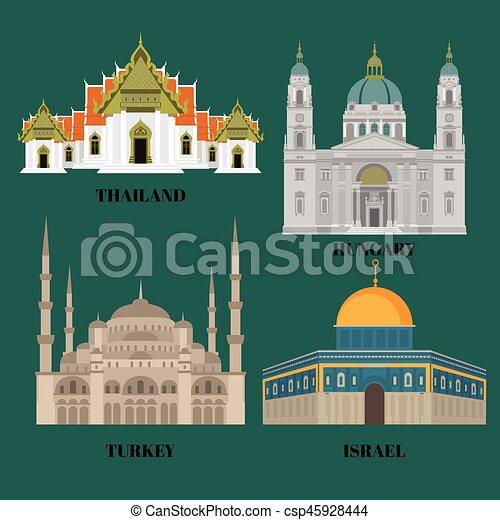 Türkei Wohnung östlich Land Reise Israel Landmarks Icons