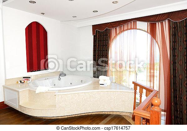 Türkei, Wohnung, Bodrum, Jacuzzi, Luxus, Badezimmer Stockfoto